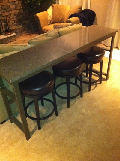 bar table behind theater seats - AVS Forum | Home Theater Discussions ...